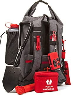 Uncharted Supply Emergency Survival Backpack - SEVENTY2 | 50L, 35 Piece Emergency Kit with Preparedness Gear, Food, Matches, Radio, Tools | Bug Out Bag for Camping, Hiking, Earthquakes, Hurricanes