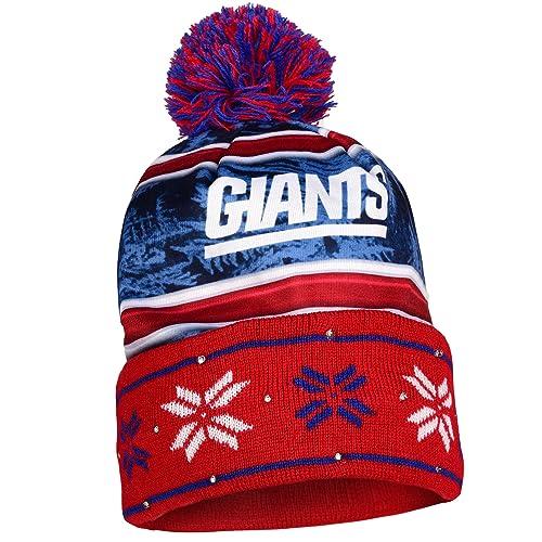 5f6c3744a65 FOCO NFL Unisex Wordmark Light Up Printed Beanie Knit Cap