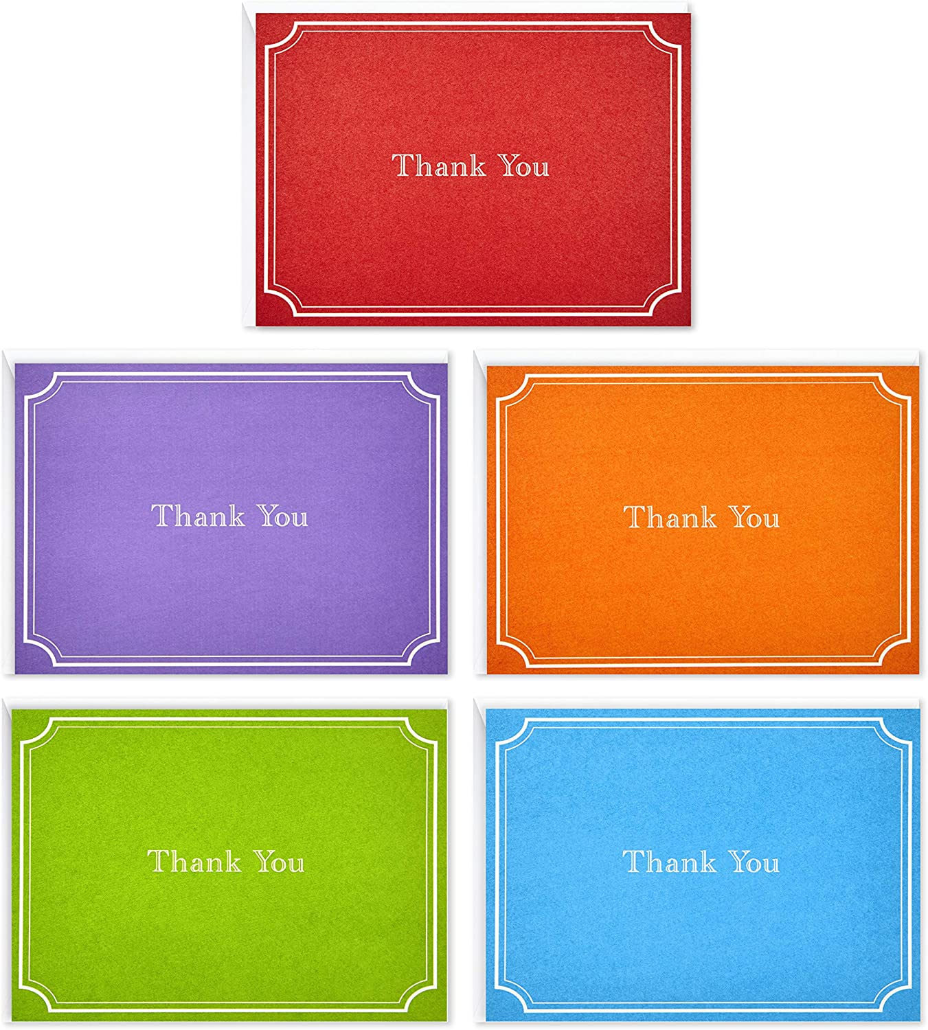 Hallmark Thank You Cards Assorted Solid 50 Colors Superlatite Max 81% OFF Note of Pack