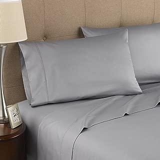 Strick & Bolton Fitzgerald 300 Thread Count Certified Organic Sheet Set Grey Queen 4 Piece