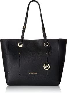 Womens Walsh Leather Shoulder East West Handbag Black Large