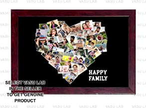 12in X 18in PERSONALIZED PHOTO COLLAGE LOVE SHAPED PHOTO COLLEGE MODEL 03 BLACK BACKGROUND FOR HOME DECOR AND GIFITNG PHOTO GIFT FRAME Personalised & Customised Gifts for Him Her Family Friends Father Mother Sister Brother Couple Spouse Wife Husband Baby Girlfriend Boyfriend Valentine's Day Loved Ones Birthday Anniversary Wedding & Marriage DIWALI GIFTS NEW YEAR GIFT DUSSERA GIFT CHRISTMAS GIFT
