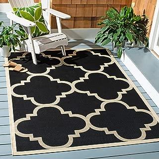 Safavieh Courtyard Collection CY6243-266 Black and Beige Indoor/ Outdoor Area Rug (5'3