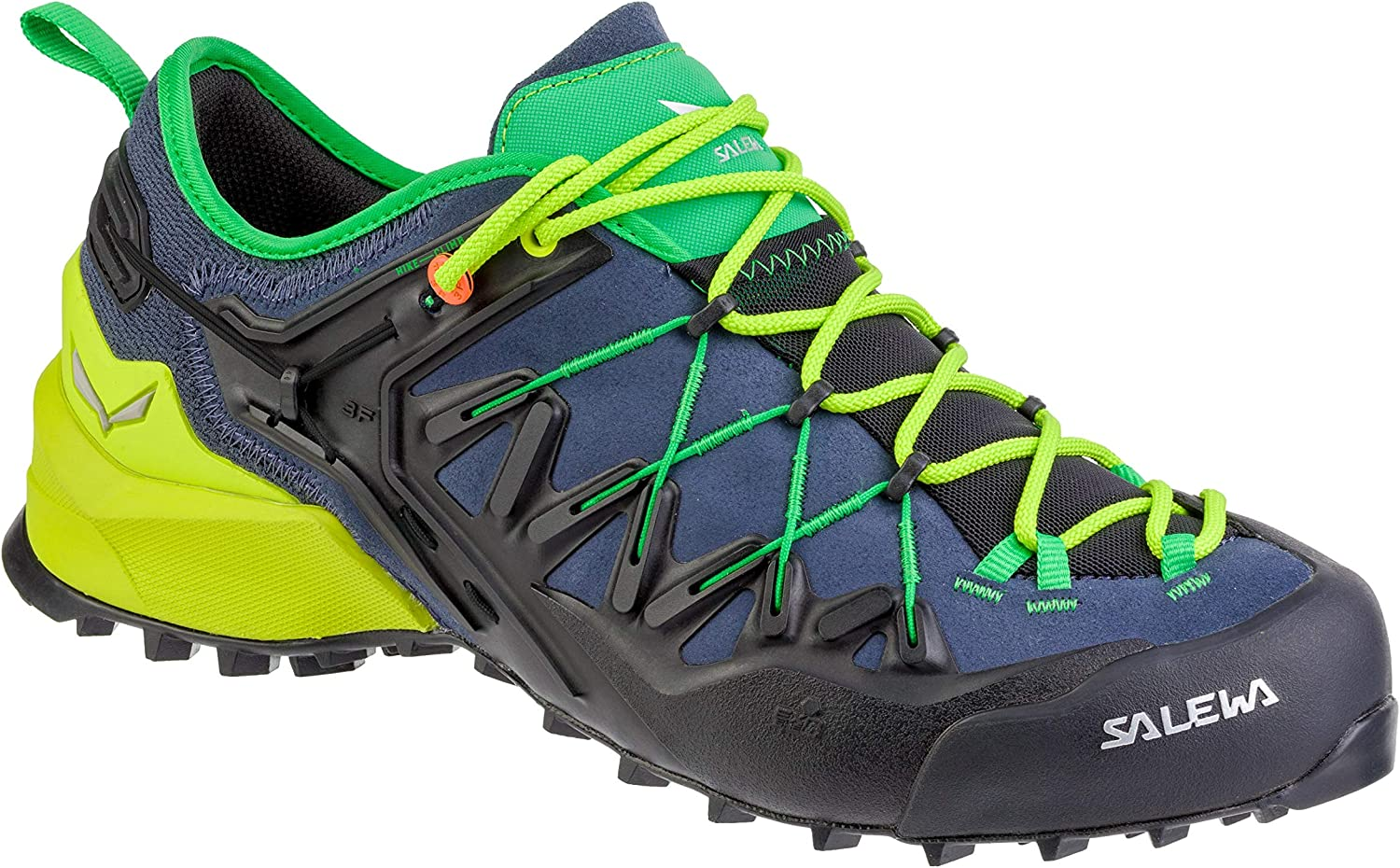 Salewa Wildfire Edge Climbing shoes - Men's, Ombre bluee Fluo Yellow, 11, 00-0000061346-3840-11