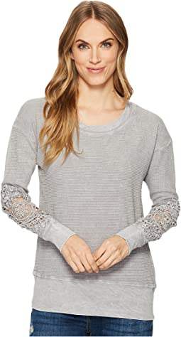 Allen Allen - Box Thermal Lace Patch Crew