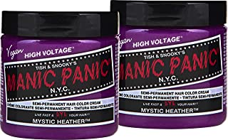 Manic Panic Mystic Heather Hair Color Cream (2-Pack) Classic High Voltage Semi-Permanent Hair Dye - Vivid, Pink Shade - For Dark, Light Hair – Vegan, PPD & Ammonia-Free - Ready-to-Use, No-Mix Coloring