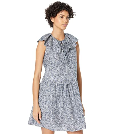Rebecca Taylor Sleevelesss Vine Print Dress Women