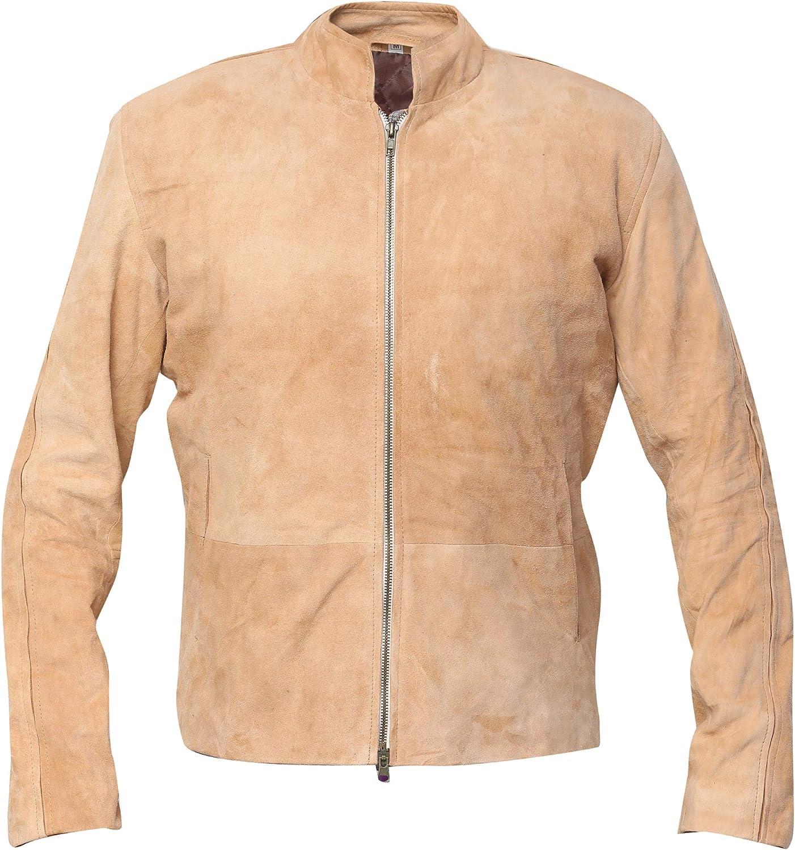 Morocco Daniel Craig Blouson Fawn Suede Leather Jacket