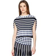 Sonia Rykiel - Vichy Plaid Pleats Cape