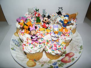 Disney Minnie Mouse Deluxe Set of 11 Figure Cake Toppers / Cupcake Decorations with Figaro the