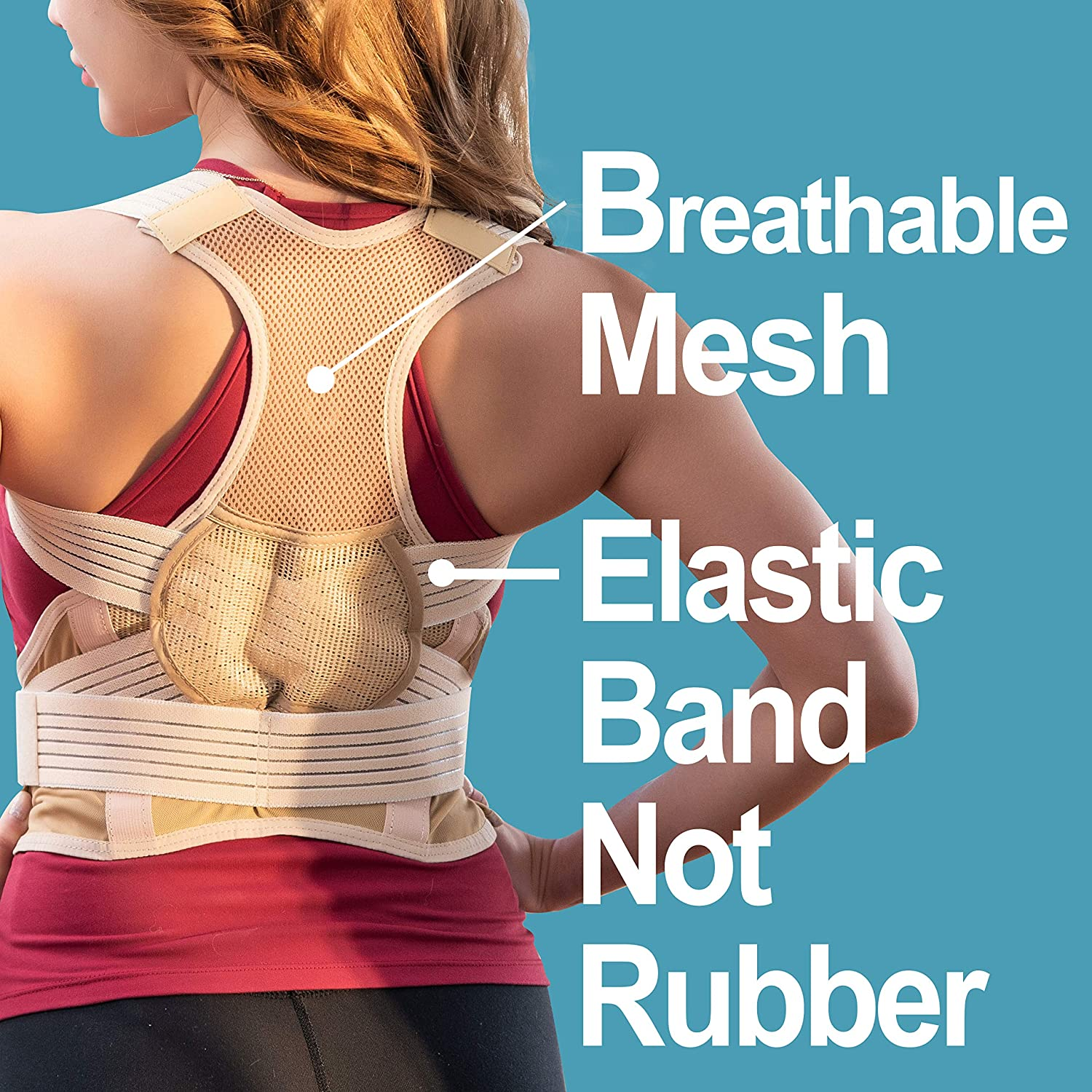 Comfort Breathable Mesh Lumbar Support MaideInSouthKorea Dailybucket Posture Corrector for Women And Men And kids Shoulder Posture Neck Brace Back Brace Medium Back Posture for Pain Relief