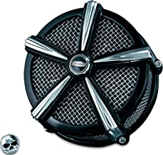 Kuryakyn 9514 Mach 2 Air Cleaner/Filter Assembly for Harley-Davidson Motorcycles, Custom Applications, Black/Chrome
