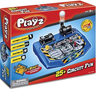 Playz Electrical Circuit Board Engineering Kit for Kids with 25+ STEM Projects Teaching Electricity, Voltage, Currents, Re...