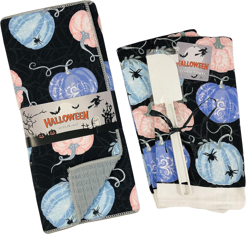 Halloween Kitchen Dish Drying Mat P Towels Colorful Japan Maker New Kansas City Mall Matching and