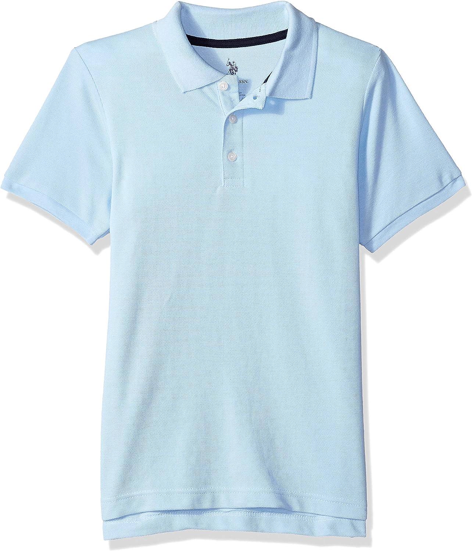 U.S. Polo Assn. Boys' Big New Short Sleeve Pique Polo Shirt in Husky Sizes