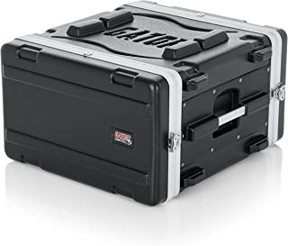 Gator Cases Lightweight Molded 6U Rack Case with Heavy Duty Latches; Standard 19.25