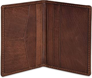 Portlee Premium Leather Bifold Wallet Debit Credit Card Holder Brown