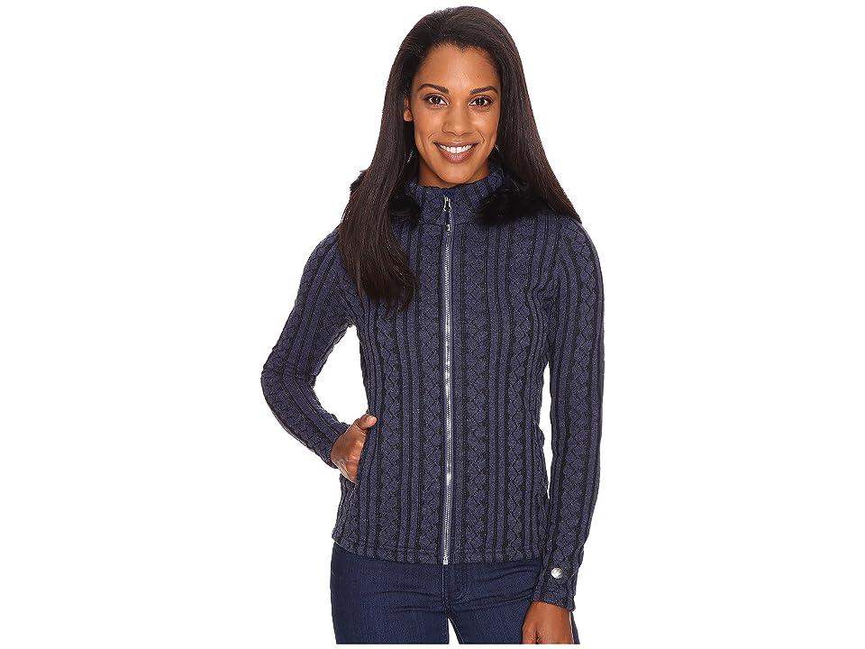 Obermeyer Sadie Cable Knit Jacket (Storm Cloud) Women