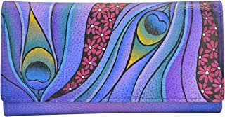 ANNA by Anuschka Hand Painted Checkbook wallet/Clutch