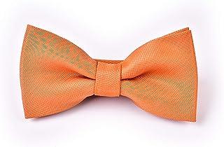 Boys Necktie Bowtie Burnt Orange - Burnt Orange Necktie - Orange Necktie - Pumpkin Necktie - Burnt Sienna Necktie - Rust Necktie - Autumn Necktie - Fall Wedding Necktie