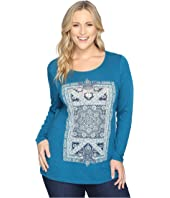Lucky Brand - Plus Size Intricate Rug Tee