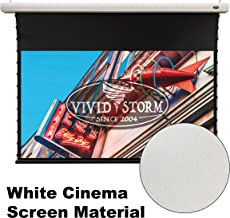 VIVIDSTORM Home Theater 8K/4K UHD Projection, Slimline Tab-tensioned,Electric MotorizedDrop Down Projector Screen,135-inch Diag 16:9, White Cinema Material, Wireless 12V Projector Trigger,VMSLW135H