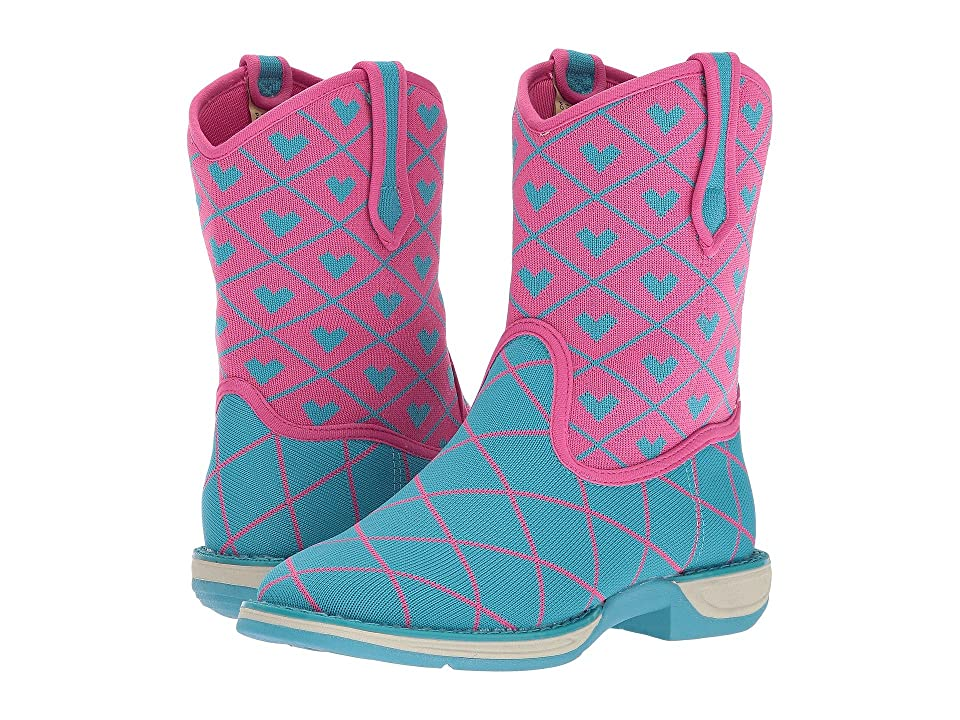 Laredo Kids Spryte (Toddler/Little Kid/Big Kid) (Blue/Pink) Cowboy Boots