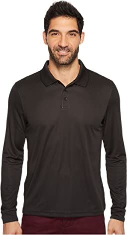 Perry Ellis - Three-Button Long Sleeve Jacquard Polo