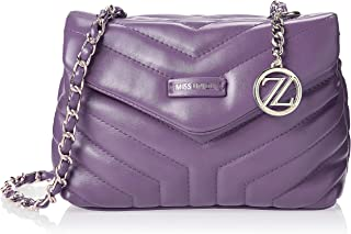 Zeneve London Womens Crossbody Bag, Purple - 1191830561