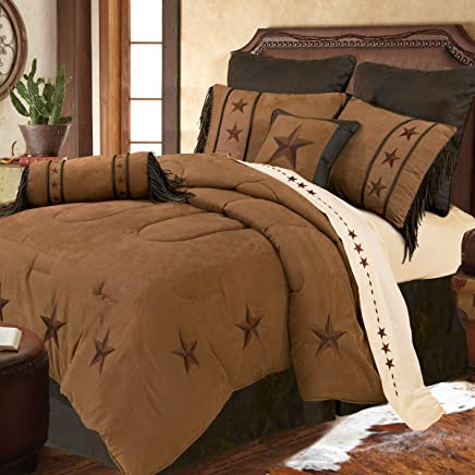featured product HiEnd Accents Laredo Tan Western Bedding,  Queen