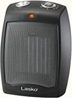 Lasko Ceramic Portable Space Heater with Adjustable Thermostat.