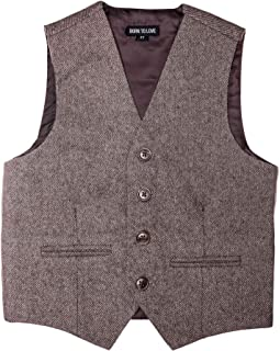 Born to Love - Vest for Baby Toddler Kids Ring Bearer Pageboy Wedding Formal Herringbone Outfit