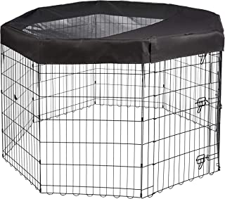 AmazonBasics Metal Pet Playpen Mesh and Fabric Top Cover All Sizes 9004-C