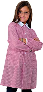 Grembiule Pollicino Isacco per asilo e scuola materna 3-6 anni (6 anni, Quadretto rosso)