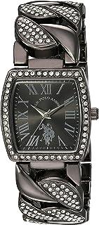 U.S. Polo Assn. Women's Analog-Quartz Watch with Alloy Strap, Black, 22.2 (Model: USC40202AZ)