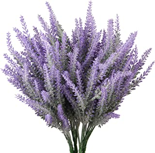 TYEERDEC Artificial Flowers 6 Bundles Lavender Bouquet for Wedding Home Office Decoration - Purple