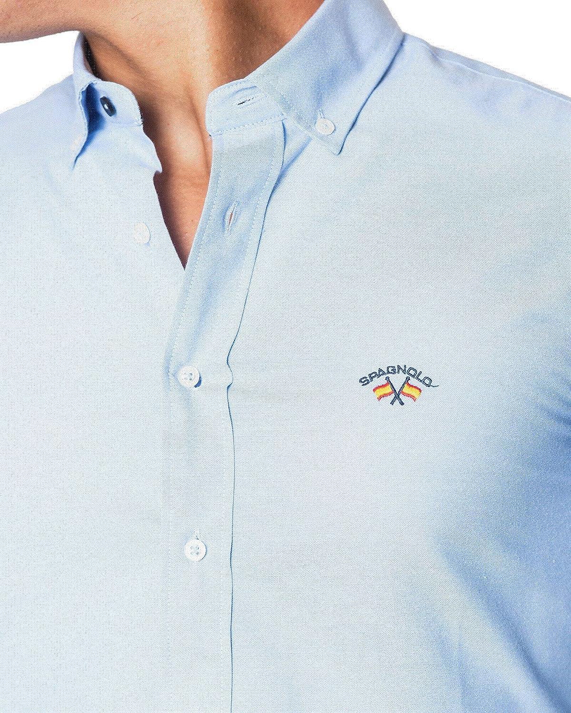 SPAGNOLO PAUL & ESTHER Camisa con Boton Basica Oxford 8068 (6 ...
