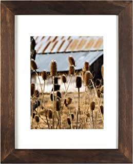 Nielsen Bainbridge Artcare 11x14 Archival White Mat for 8x10 Image #RW13ARHN. Includes: UV Glazed Glass and Anti Aging Liner Hazelnut Arcadia Frame, 8 Inches x 10 Inches