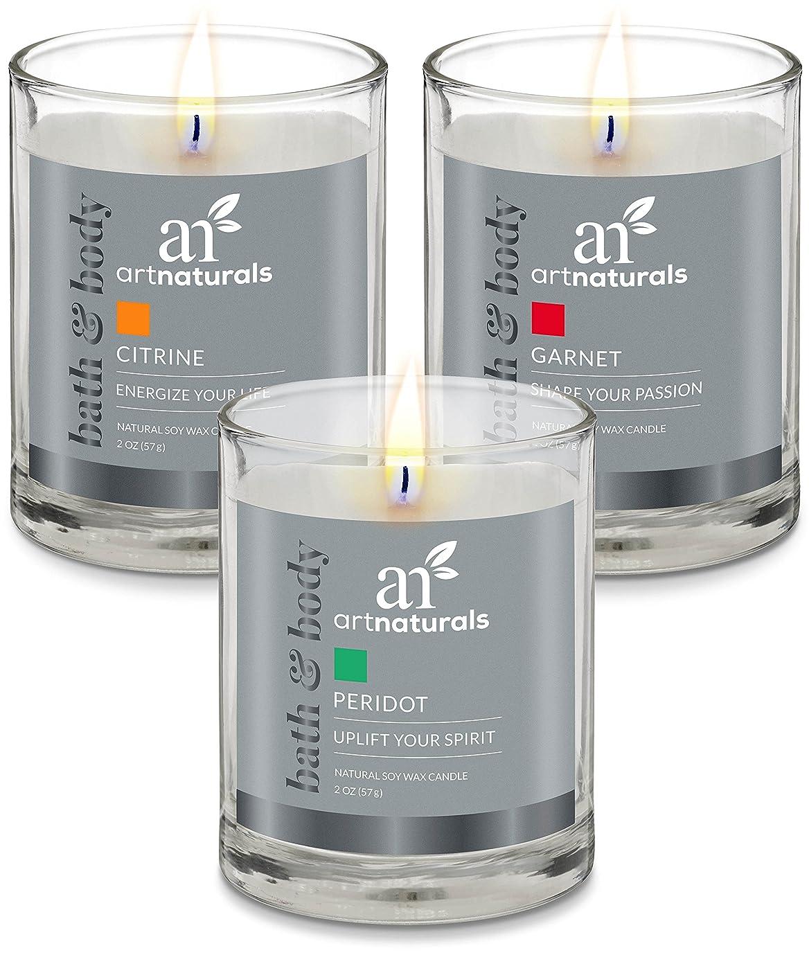 情緒的推進、動かすウッズArtNaturals Scented Candle Gift Set?–?6?PieceアロマセラピーのセットFragrance大豆ワックス?–?Made in USA with Essential Oils?–?For Stress Relief andリラクゼーション
