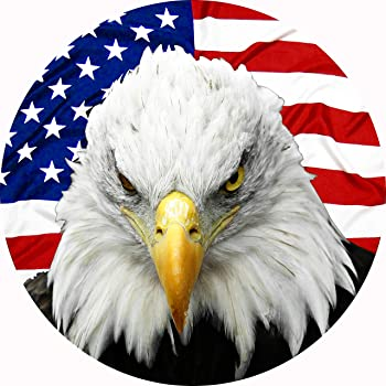 TIRE COVER CENTRAL Eagle American Flag Spare Tire Cover (Select tire Size/Back up Camera in MENU) Custom Sized to Any...