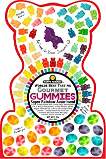 Happy Yummies Worlds Best Tasting Gourmet Gummies Super Rainbow Assortment 1.5lb