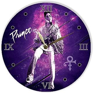Prince Painted Vinyl Clock 12