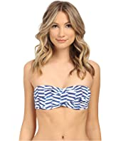 Shoshanna - Pleated Waves Twist Bandeau Top