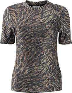 Luxury Fashion | Ganni Womens T2380TIGER986 Brown T-Shirt | Autumn-Winter 19