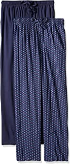 Men's Extended Sizes Jersey Knit Sleep Pant, Navy Print,...