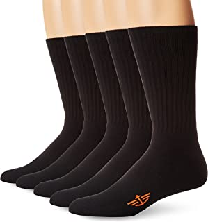 Dockers Men's 5 Pack Cushion Comfort Sport Crew Socks