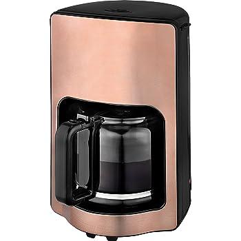 Team Kalorik Cafetera de filtro con capacidad de 1,8 L, Jarra de vidrio, Hasta 15 tazas, 1000 W, Cobre, TKG CM 1220 K: Amazon.es: Hogar