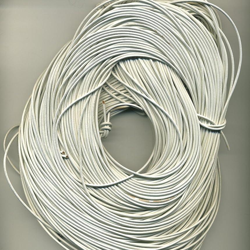 1 MM White Leather Cord 25 M Hank (82 Feet)