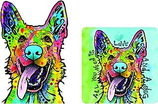 Enjoy It Dean Russo German Shepherd (Love and a Dog) Car Sticker & Air Freshener Set