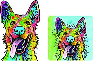 Enjoy It Dean Russo German Shepherd (Love and a Dog) Car Sticker & Air Freshener Set